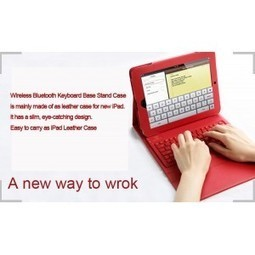 New iPad3 iPad4 Leather Sleeve Cover Wireless Bluetooth Keyboard Base Stand Case | Fashion iPad Case | Scoop.it