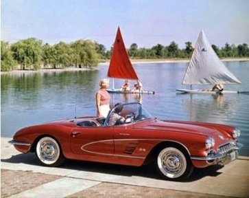 Take a look at this #FlashbackFriday of a1957 Chevrolet Corvette. Where is your… | Cars | Scoop.it