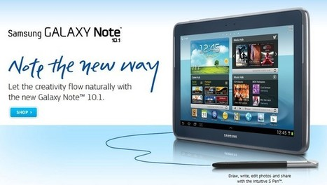 Samsung lance la tablette tactile Galaxy Note 10.1 | Tablettes | Scoop.it
