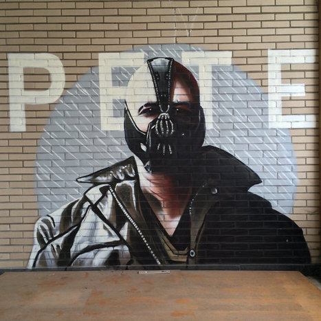Impressive Batman Graffiti Found In Abandoned Building | Geekologie #RuinPorn | Photoshopography | Scoop.it