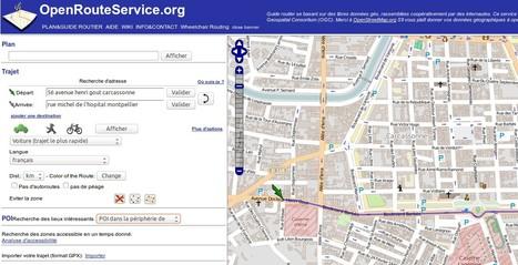 OpenRouteService : un calculateur d'itinéraire libre basé sur OpenStreetMap | TICE, Web 2.0, logiciels libres | Scoop.it