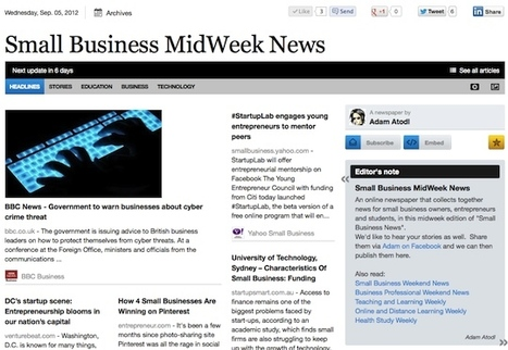 Sept 5 - Small Business MidWeek News is out | Business Futures | Scoop.it