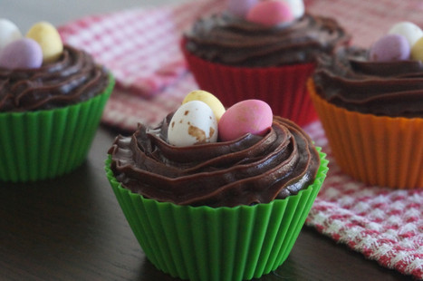 Chocolate Cupcake Nests | BrightSpring and Delicious Food | Scoop.it