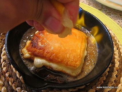 Flaming Cheese Saganaki - Kalofagas - Greek Food & Beyond | On the Plate | Scoop.it