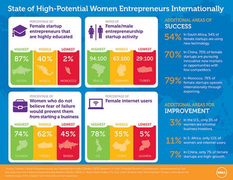 Où sont les femmes entrepreneurs dans le monde? | A Voice of Our Own | Scoop.it