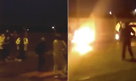 Shocking moment gang of youths throw a PETROL BOMB at police | Jeff Morris | Scoop.it