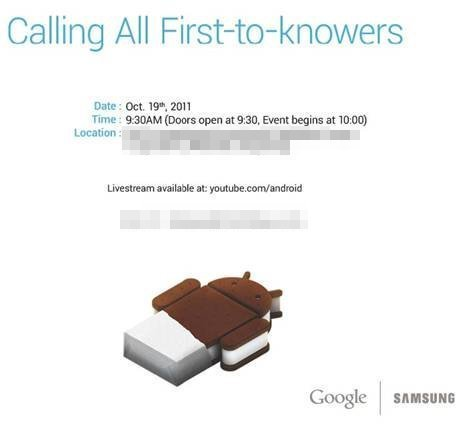 Samsung Nexus Prime/Google Android Ice Cream Sandwich unveiling confirmed for 19th | Technology and Gadgets | Scoop.it