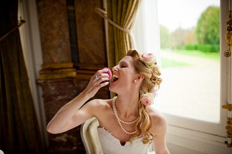 Marie Antoinette Photo shoot at french wedding venue Chateau de Dangu in