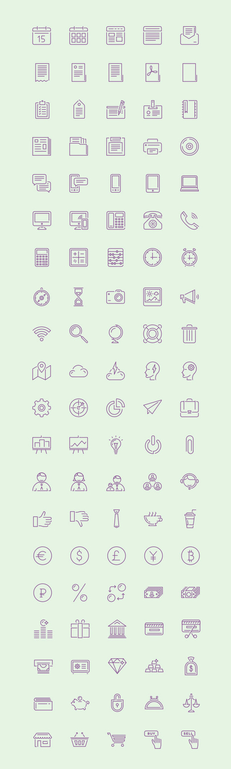 34 Amazing Free Icons Sets - January 2015 Edition - Fusionplate.com | HTML5 intro and tips | Scoop.it