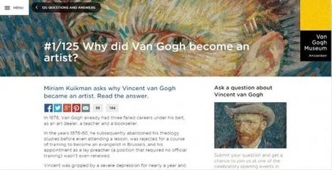IL Y A 1 AN .... 125 ans après la mort de Van Gogh, le musée d'Amsterdam répond à 125 questions des internautes | Clic France | Scoop.it