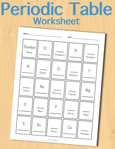 All worksheets free periodic table worksheets for Periodic table 6 year old