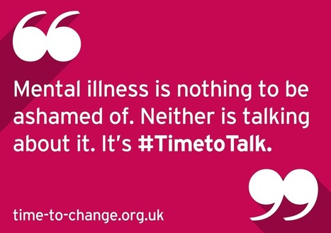 Twitter / TimetoChange: Mental illness is nothing to ... | Mental health - some stories from around the world | Scoop.it