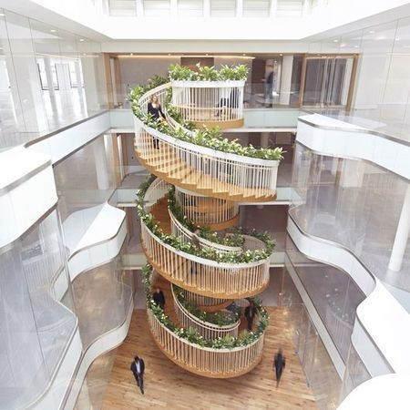 Living Staircase combines a garden, meeting spaces and a tea bar | SocialLibrary | Scoop.it