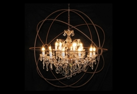 Medium Chandelier Gyro & Crystal   Timothy Oulton   3D Product Design   Scoop.it