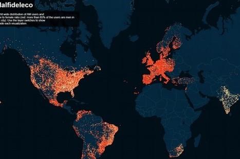 #Sécurité & #BigData : la carte mondiale de l'infidélité issue des données du site #AshleyMadison | digitalcuration | Scoop.it
