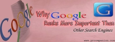 Why Google Ranks More Important Than Other Search Engines | 25 Ways for Branding Your Company & To Increase Your Name Recognition | Scoop.it