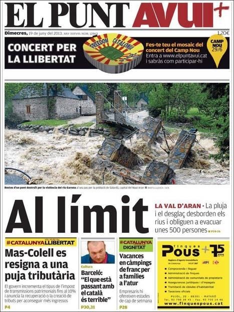Portades de la Premsa Catalana d'Avui - Dimecres 19.06.13   AC Affairs   Scoop.it