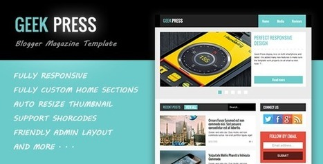 Geek Press Blogger Templates Free Download - GuidePedia | www.guidepedia.info | Scoop.it