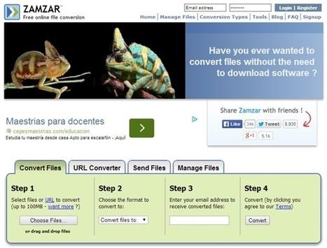 Zamzar, un sitio para convertir casi cualquier archivo│@maedelac | Treballs | Scoop.it