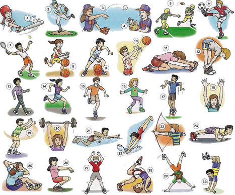 Sport and exercise actions vocabulary list PDF - Learning English vocabulary and grammar | Learning Basic English, to Advanced Over 700 On-Line Lessons and Exercises Free | Scoop.it