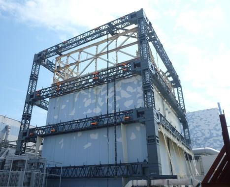 Gros plan TEPCO sur la structure pour le réacteur #1 | TEPCO | Japon : séisme, tsunami & conséquences | Scoop.it