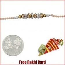 Silver Gold Bead Rakhi - Send Rakhi to UK   Rakhi Gifts to India, USA, UK, Canada, Australia   Scoop.it