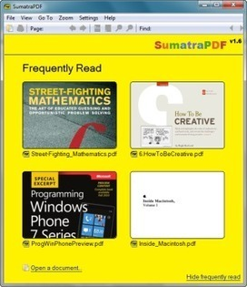 Free PDF Reader - Sumatra PDF | TICE, Web 2.0, logiciels libres | Scoop.it