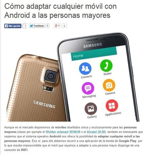 Como adaptar un móvil para que lo utilicen personas mayores ... | La calidad de vida | Scoop.it