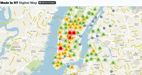 Un job à New York ? La carte qu'il vous faut   Journalisme graphique   Scoop.it