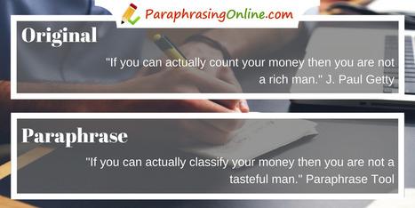 Paraphrasing helper