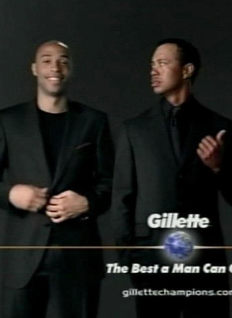Tiger Woods et Thierry Henry rasés de la campagne Gillette - Voici | Le marketing du sport | Scoop.it