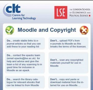 Moodle and copyright: do's and don't's | CLT @ LSE | mind the app | Scoop.it
