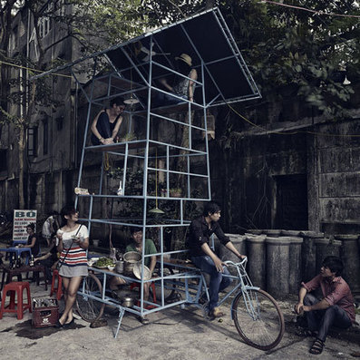 [Vietnam] A seven-storey MOBILE performance space and street kitchen, mounted it on a tricycle | The Architecture of the City | Scoop.it