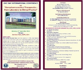 """One Day International Conference on """"Nanopharmaceutical ...   NanoBioPharmaceuticals   Scoop.it"""