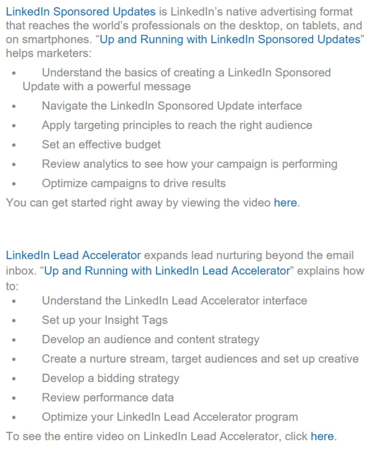 How to Leverage LinkedIn Sponsored Updates and LinkedIn Lead Accelerator: Introducing Two New Tutorial Videos from Lynda.com | The Marketing Technology Alert | Scoop.it
