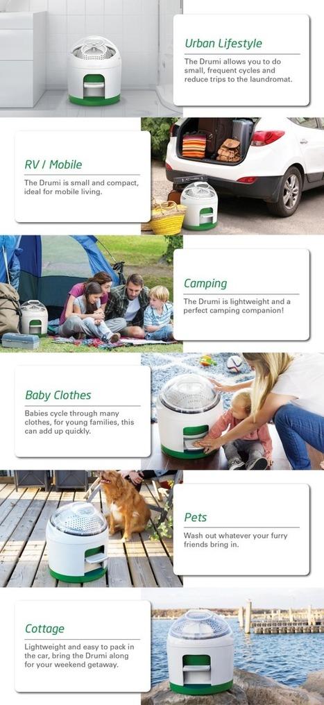 Drumi: La lavadora que funciona con energía de tus pies! | Energía Renovable y Agua | Scoop.it