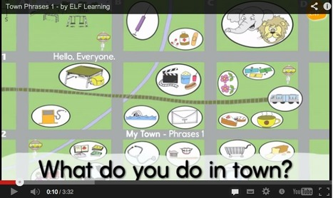 ELF Tube - My Town - Phrases 1 & 2- by ELF Learning | ESL | Scoop.it