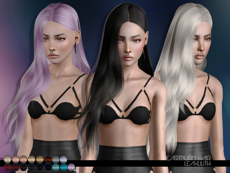 Heartburn Hair by LeahLillith by The Sims Resource | Sims 3 Downloads | Scoop.it
