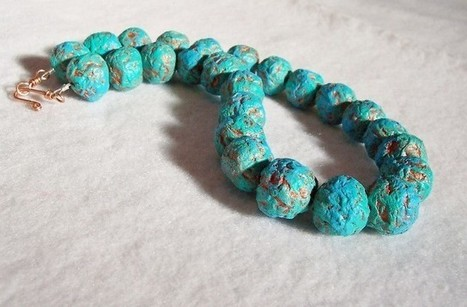 Recycled paper beads necklace | Polymer Clay | Scoop.it