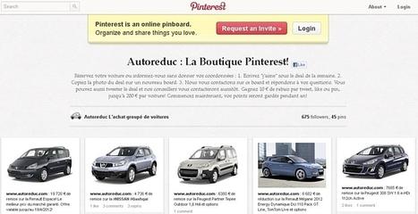 Le site de couponing automobile Autoreduc.com, ouvre une boutique de vente d'automobiles sur Pinterest. | l'investissement | Scoop.it