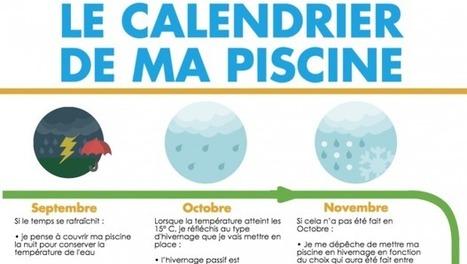 Infographie - Le calendrier de ma piscine | Guide piscine : infos et conseils sur l'univers de la piscine | Scoop.it