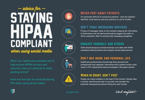 Advice for staying HIPAA compliant when using social media | Health & Life Extension | Scoop.it