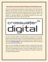 Buy Online Crosswater Digital Products at CentralHeat.co.uk | CentralHeat | Scoop.it