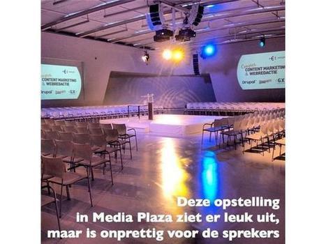 Foute opstelling in Media Plaza's Polar zaal in Utrechtse Jaarbeurs tijdens Congres Contentmarketing en Webredactie 2013 #congrescm13 | Congres Contentmarketing & Webredactie Entopic | Scoop.it