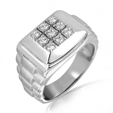 Diamond Designer Band in 18K Gold and 0.23 Carat   MyGlitzJewels   myglitzjewels   Scoop.it