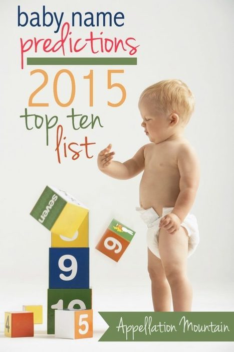 Baby Name Predictions: 2015 Top Ten List - Appellation Mountain | Name News | Scoop.it
