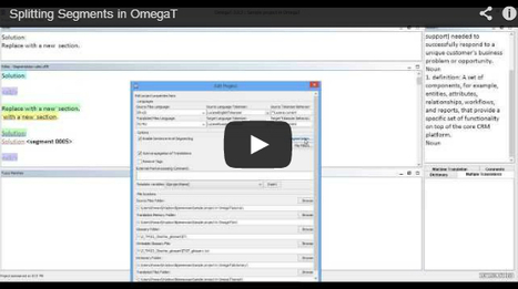 (CAT) (VIDEO) - Splitting Segments in OmegaT | Roman Mironov | Glossarissimo! | Scoop.it