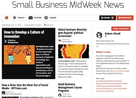 Oct 17 - Small Business MidWeek News is out | Transformations in Business & Tourism | Scoop.it