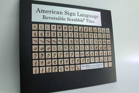 ASLScrabbleTiles WITH GAME par memoryengravers sur Etsy | Creative Design in Learning, Teaching, and Thinking | Scoop.it