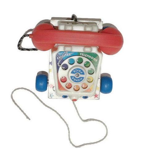 1961 Fisher Price Chatter Phone. Made in the UK. | Retrofanattic's articles and items for sale | Scoop.it